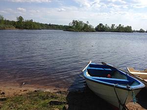 row boat swim bait rod cast