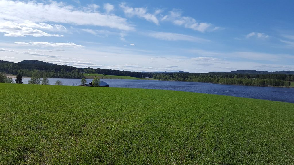 holiday sweden countryside rural landscape lake