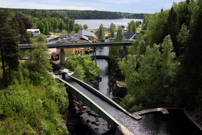 Dalsland Canal beautiful scenery location