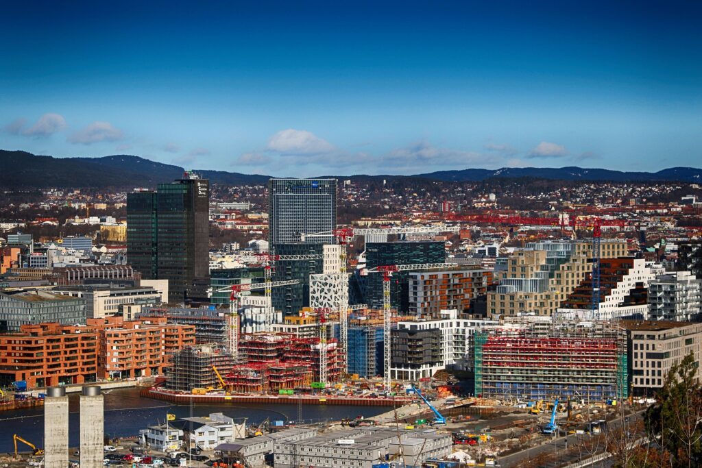 oslo norway scandinavia overview city center